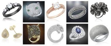 Baner med smycken stock illustrationer