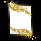 Baner med stjärnor vektor illustrationer