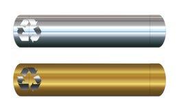 baner metal återanvändning vektor illustrationer