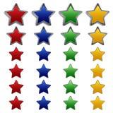 baner metal set olika stjärnatyper Royaltyfria Foton