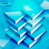 Baner och fyrkanter för vektor 3d Design Royaltyfri Bild