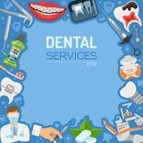 Baner och ram för tand- service Royaltyfri Fotografi
