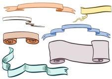 Baner och scrolls Arkivbilder