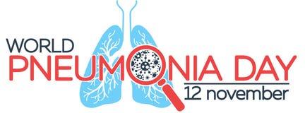 Baner om pneumoni stock illustrationer