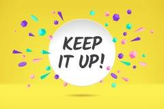 Baner Ooops Affisch, anförandebubbla och geometrisk stil för klistermärkebegrepp med text Ooops Samtal för symbolsmeddelandemoln  stock illustrationer