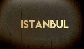 baner på en grå bakgrund Istanbul royaltyfri illustrationer
