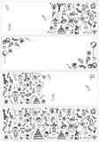 baner planlägger ferie skissar ditt royaltyfri illustrationer