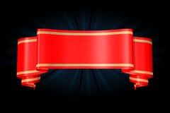 Baner rosso Immagini Stock