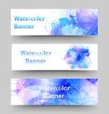 baner ställde in vattenfärg Royaltyfri Foto