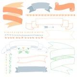 baner tecknad hand Arkivbild