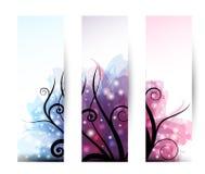 baner tre royaltyfri illustrationer