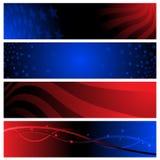 baner USA royaltyfri illustrationer
