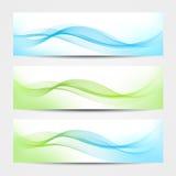 Baner - vattenvågor royaltyfri illustrationer