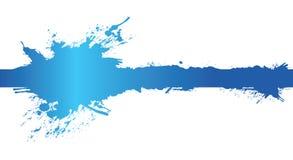 banerbluefärgstänk Royaltyfri Fotografi