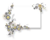 banerchamomileteamplate Royaltyfria Bilder