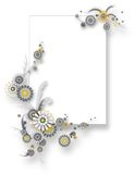 banerchamomileteamplate Royaltyfria Foton