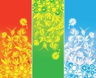 banerfärgfloror tre Arkivfoto