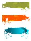 banerfärgstänk vektor illustrationer