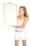 banerflicka som rymmer vitt barn royaltyfri fotografi