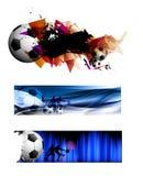 banerfotboll stock illustrationer