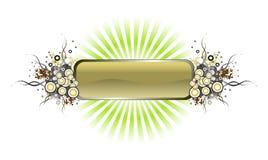 banergrunge rays vektorn Arkivfoto