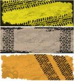 banergummihjulspår royaltyfri illustrationer