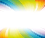 banerhorisontalregnbåge stock illustrationer