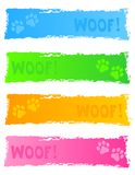 banerhundtitelrad Arkivfoto