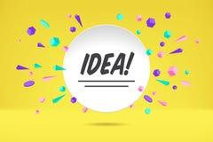 Baneridé Affisch, anförandebubbla och geometrisk stil för klistermärkebegrepp med textidé Samtal för symbolsmeddelandemoln med te stock illustrationer