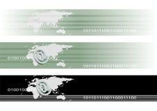 banerinternetteknologi vektor illustrationer