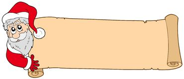 banerjul claus santa Royaltyfri Foto