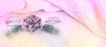 Banerjulsammansättning med dekorativa beståndsdelar Arkivfoton