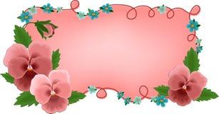 banerkortet blommar hälsningar vektor illustrationer