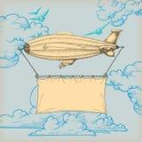 banerlitet luftskepp Royaltyfri Fotografi