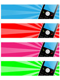 banermobiltelefon Royaltyfri Bild