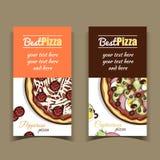 BanerpeperoniCapricciosa pizza Royaltyfria Bilder