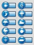 banerpictograms ställde in väder Royaltyfria Bilder