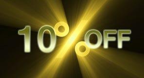 banerrabatt av procentsatsförsäljning Royaltyfria Foton