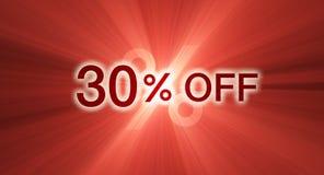 banerrabatt av procentsatsred Arkivbilder