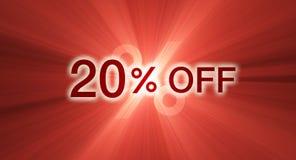 banerrabatt av procentsatsred Royaltyfri Fotografi