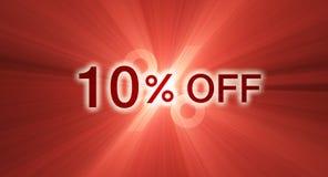 banerrabatt av procentsatsred Royaltyfri Bild