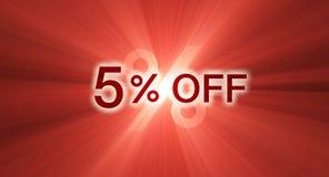 banerrabatt av procentsatsred Royaltyfria Bilder