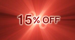 banerrabatt av procentsatsred vektor illustrationer