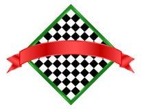 banerschackbrädesymbol royaltyfri illustrationer
