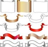banerscrolls vektor illustrationer