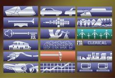 banerservice ställde in vektorn royaltyfri illustrationer