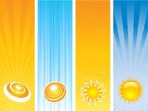 banersommar vektor illustrationer