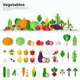 Banersymboler av sund mat för grönsaker Royaltyfri Bild