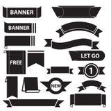 Banersymboler set01 royaltyfri illustrationer
