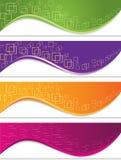 Baneruppsättning med geometriska former Arkivbilder